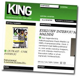 King på webben