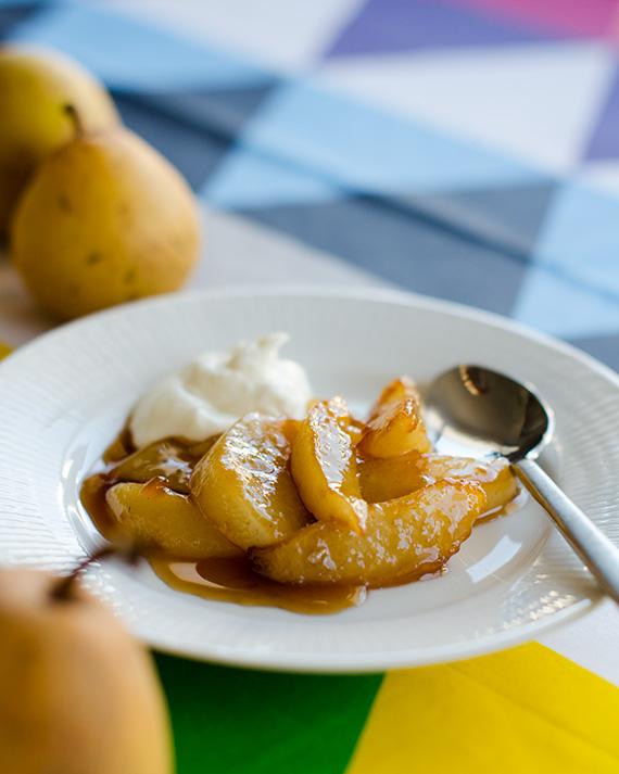 Recept på stekta päron i muscovado