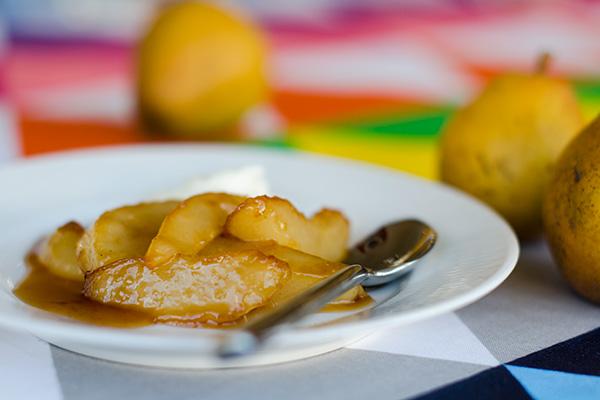 Stekta päron med muscovado